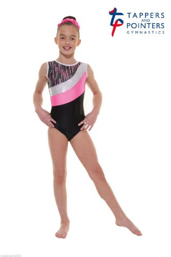 Tappers and Pointers Gymnastics Leotard PLUS Matching Hair Scrunchie Pink Gym 43